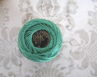 DMC Pearl Cotton Balls Size 8 - 912 Light Emerald Green