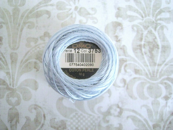 SIZE 5 DMC 3753 Ultra Very Light Antique Blue - Perle Cotton Thread Size 5