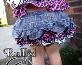 Baby Girls Diaper Cover - Punk Girls Diaper Cover - Retro Ruffle Bloomers - Rockabilly Baby Bloomers - Baby Bloomers - Baby Girls Clothing