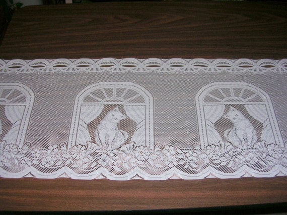 Heritage Lace Cat In Window Curtain Valance 12 Inch Wide 60
