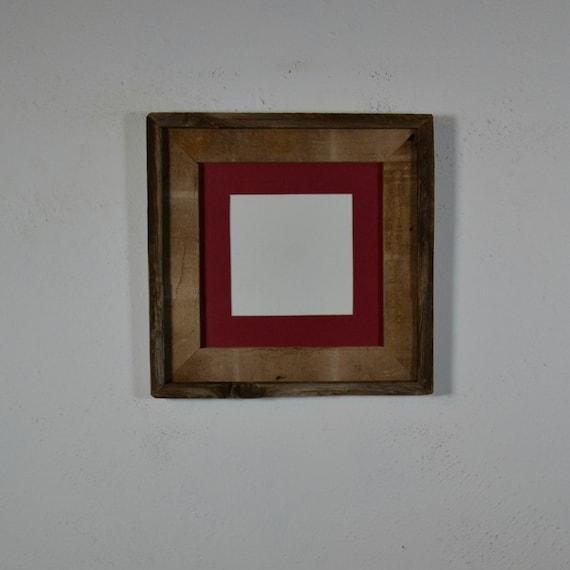 8x8 Photo Frame Rustic Barnwood With 5x5 Mat By Barnwood4u
