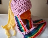 Adventure Time LADY RAINICORN crochet hat long