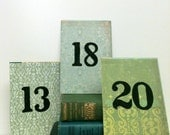Mint Wedding, Table Numbers, Garden Wedding, Save the Date, Beach Wedding, Rustic Wedding Table, Book Theme Wedding, Pastel Wedding