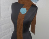 Knitted Scarf  Front Porch Scarf  Hazelnut