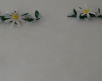 Handmade French Beaded Flowers Home decor corner piece daisy