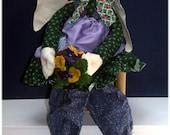 May Bunny Handmade Country Bunny Doll Decoration