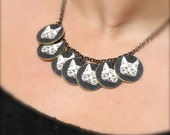 Black and White Kitty Charm Necklace - Cat Necklace - Charm Necklace - Cat Jewelry - Cat - Kitty - Meow - Photograph Jewelry- Shrink Plastic
