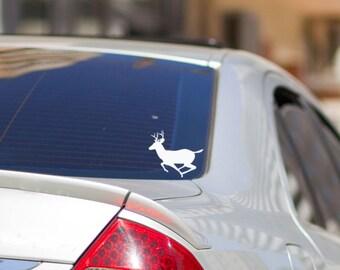 Deer Decal - Deer Window Decal - Hunting decals - Gift for Hunter - Running Deer - Laptop Decal - Deer decor - Car Window Decals - Deer