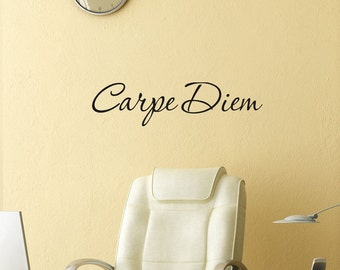 Carpe Diem vinyl wall art lettering Decal  Latin word Seize the Day