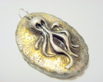 Octoghost Polymer Clay Focal Bead or Pendant