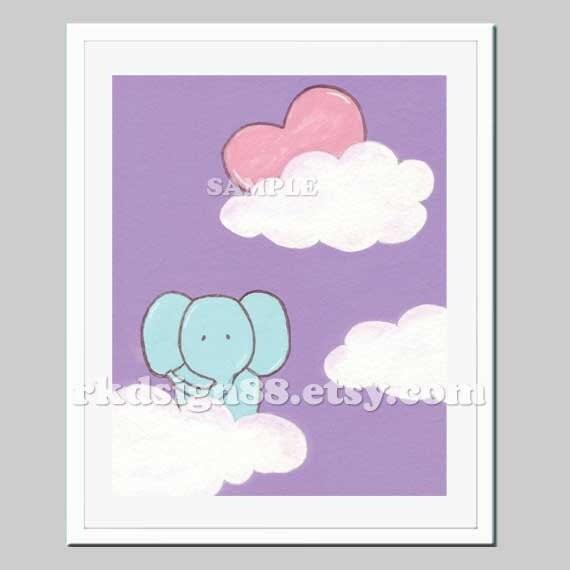 Jungle nursery art print, baby boy nursery decor, nursery wall art print, safari animal, cloud, elephant, heart, Love Is My Sun Too 8x10