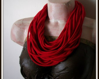 Red Infinity Jersey Scarf