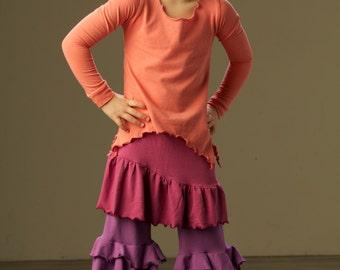 ROSE BLOOMERS Girls Organic ruffle pants