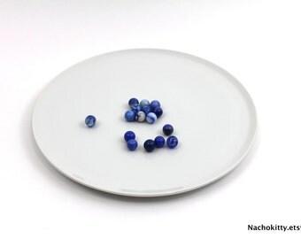 1930s Serving Platter, Mod White Design by Arsberg of Germany
