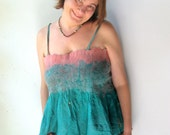 Nuno Felted Silk Strapped Tube Top