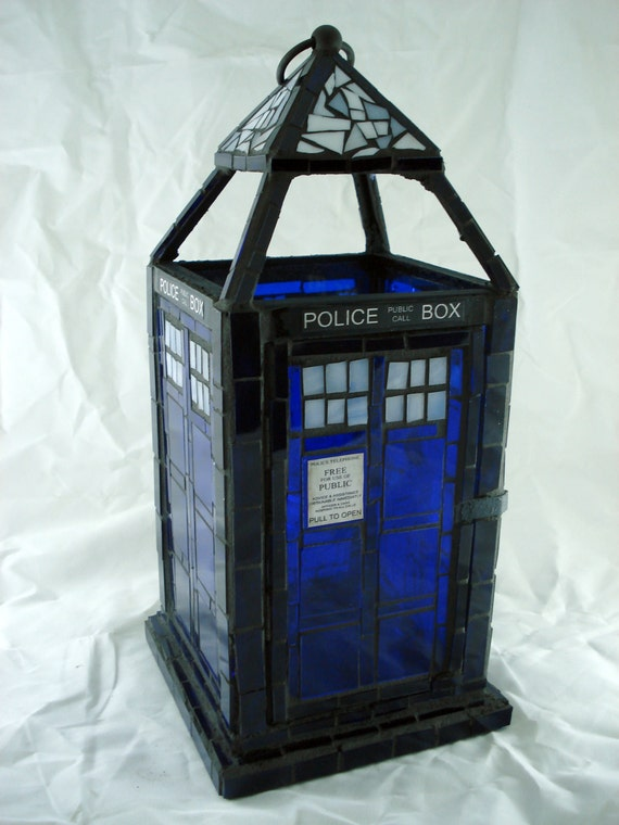 Doctor who tardis mosaic lantern made to order like this item mozeypictures Gallery