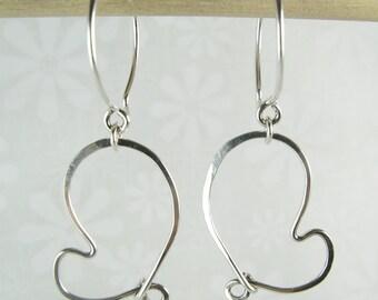 CHERISH HEART EARRINGS, sterling silver heart earrings