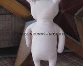Blank Cloth Muslin Bunny Body, Set of 3 - UNSTUFFED