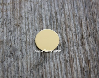 One Inch 22 Gauge Gold Fill Disc -- Jewelry Stamping Supplies