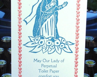 Our Lady of Perpetual Toilet Paper Card