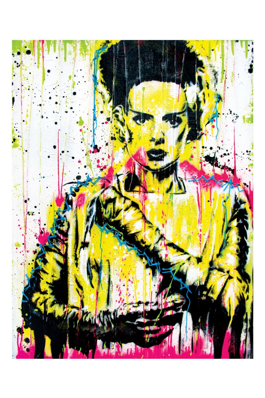 Bride Of Frankenstein 12 X 18 High Quality Art Print