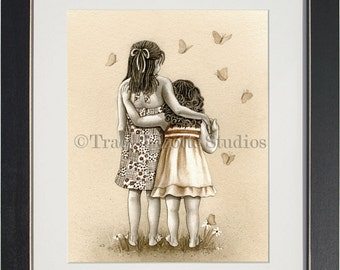 Butterflies - archival watercolor print by Tracy Lizotte