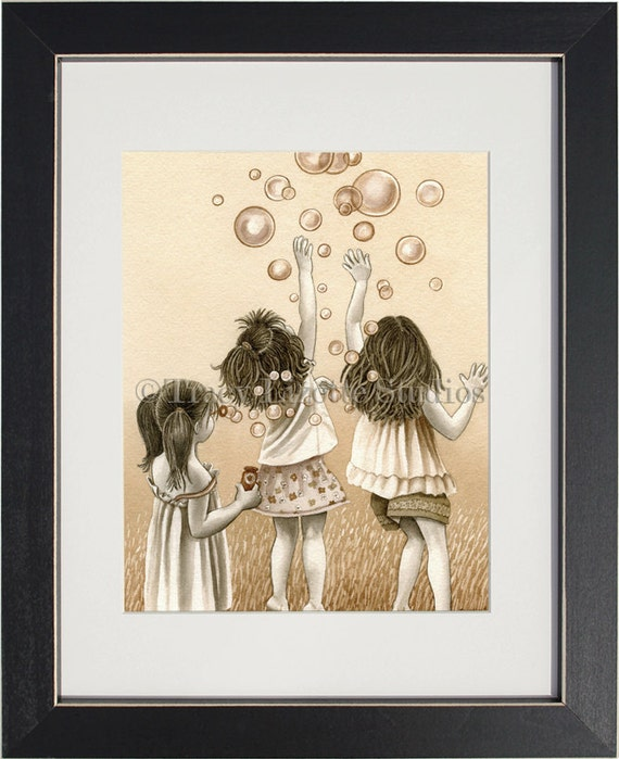 Bubbles - archival watercolor print by Tracy Lizotte