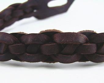 Leather Ankle Bracelet  -- Celtic Still Waters Spanish Leather Anklet