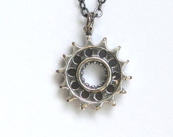 Silver Motorcycle Drive Gear Necklace Motorcycle Gear Pendant 230