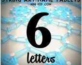 Modern String Art Wooden Name Tablet - 6 letters