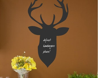 Chalkboard Deer Customizable Wall Decal