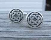 Pewter Celtic Knot Cuff Links. Celtic Jewelry.