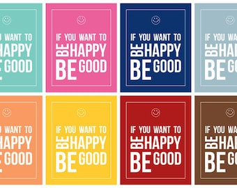 If you want to be Happy - Instant Download