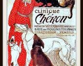 "French Advertisement Poster ""Clinique Cheron"" -  Art Noveau Giclee Print"