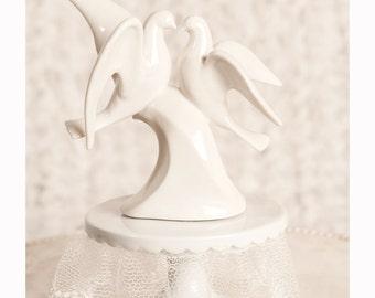 Modern Dove Wedding Cake Topper -  103717