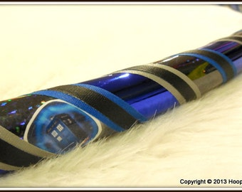 The 'Timey Wimey Who-La Hoopy' - DR. WHO Themed Decal Hula Hoop - Choose ANY Color Tapes & Any Doctor Who Decals.
