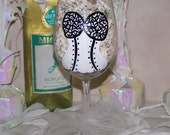 Hand Painted Wine Glass Bachelorette Party Bride Sexy Corset Lingerie