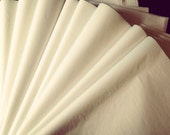 Ivory or Bright White Tissue Paper ... 50 Sheets // gift wrapping // craft supply // packaging // diy