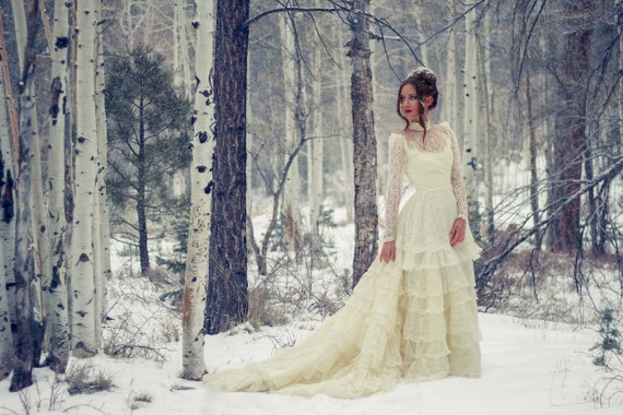 Vintage Wedding Dresses 50s 60s: Reserved TrudeH 50s 60s Victorian Rustic Ivory Lace Vintage