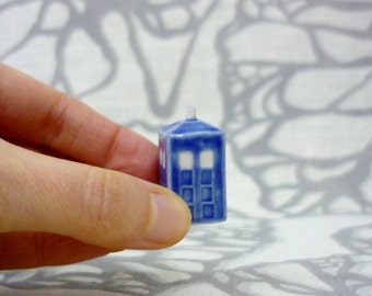Teeny Tiny Tardis: Terrarium Sized Blue Box Figurine