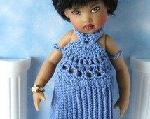 Crochet pattern (PDF) for 7-8 inch child doll - Grecian dress - for Riley Kish Betsy McCall etc.