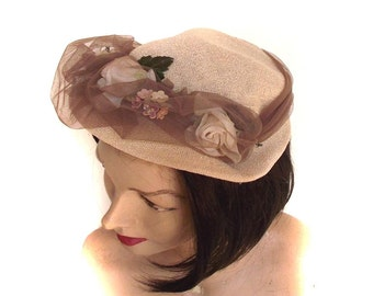 40s Summer Hat Vintage Carol Hat