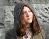 Crochet Pattern for Pixie Woodland Hood Pointy Hood Women teen