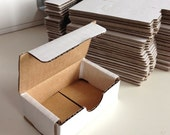 Small Tuck Top White Box 3x2x1 Packing Supplies Set of 10