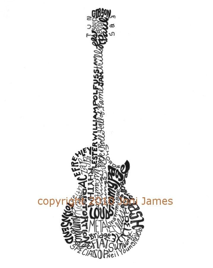 ... Guitar 3d Drawing , Electric Guitar Drawing Template , Electric Guitar