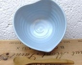 Heart Shaped Pouring Dish for dressings or dips in Baby Blue Celadon glaze