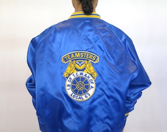 "The ""Honorary Teamsters"" Blue Baseball Jacket"