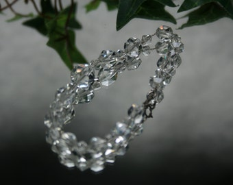 Vintage Faceted Glass Bead Bracelet