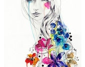 Lost // FASHION ILLUSTRATION A2 Giclée print from original watercolor by Holly Sharpe