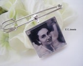 Double Sided Grooms Boutonniere Custom Photo Charm